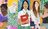 ¿Cómo se manifiesta la desigualdad? Estas cinco adolescentes te pueden contar. Ilustraciones: Bodil Jane para UNFPA.
